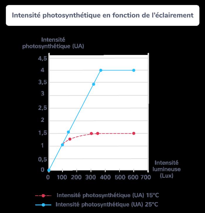 Influence de la température et de l'éclairement sur la production végétale