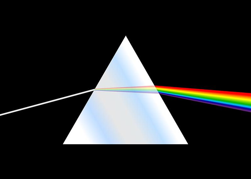 phénomène dispersion lumière différentes ondes lumineuses