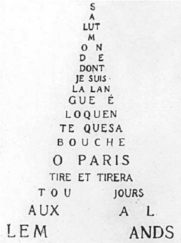 Guillaume Apollinaire,Calligrammes, 1918