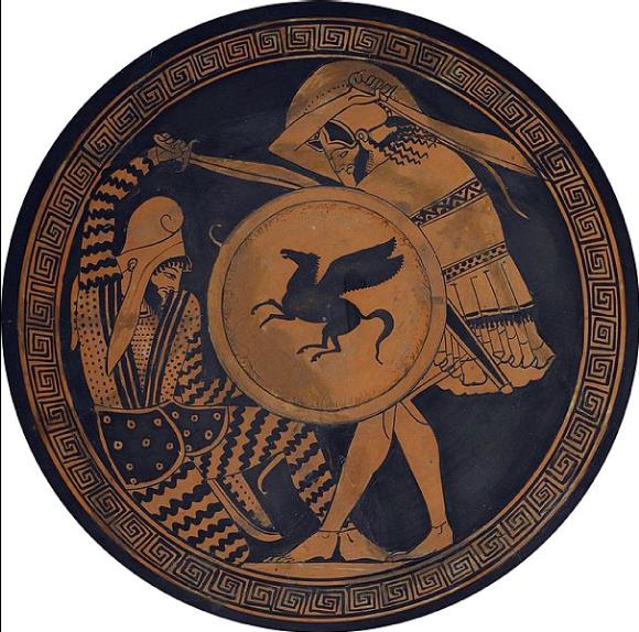 Hoplite grec contre un soldat perse