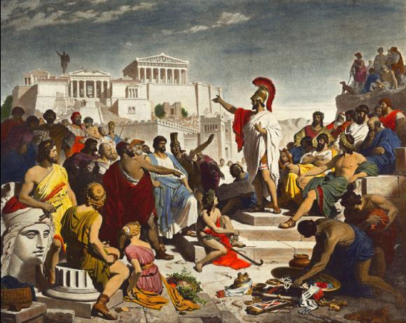 Périclès fait l'éloge des citoyens morts au combat
