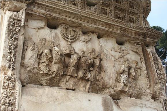 Le pillage du temple de Jérusalem par les Romains