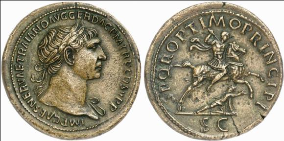 Monnaie de l'empereur Trajan