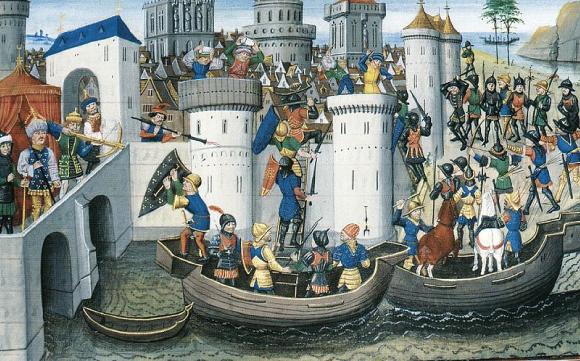 La prise de Constantinople par les croisés en 1204