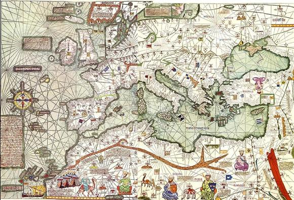 Portulan réalisé par Al-Idrisi