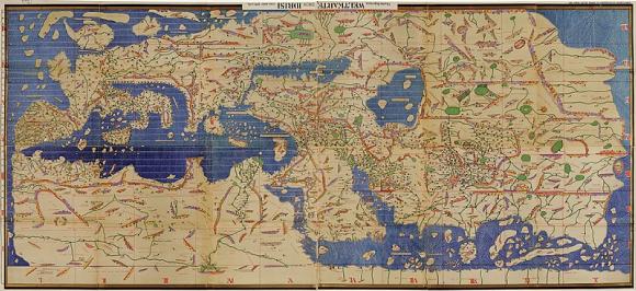 Carte du monde commandée en 1154 par le roi normand deSicile Roger II au géographe arabe Al-Idrisi