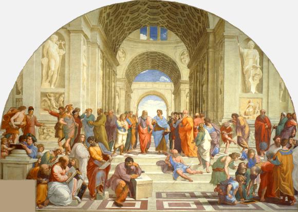 L'École d'Athènes,fresque réalisée parRaphaël entre 1509 et 1511.