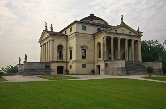 La Villa Rotonda de Palladio construite au XVIe siècle