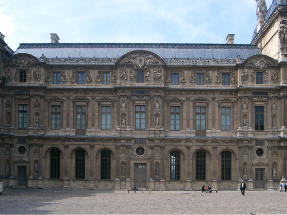La façade Renaissance de la Cour carrée du Louvre