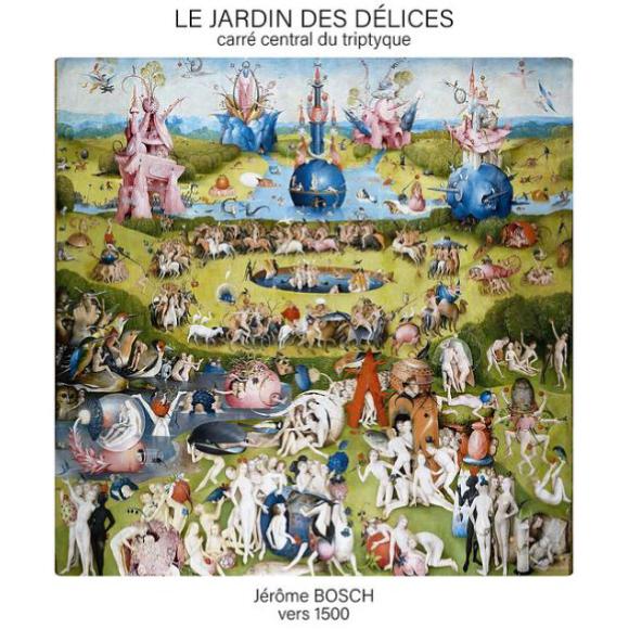 Carré central du triptyque Le Jardin des délices,Jérôme Bosch