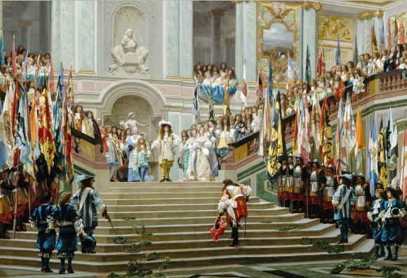 Réception du Grand Condé à Versailles