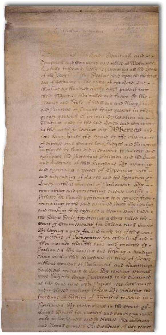 Bill of Rights, 1689