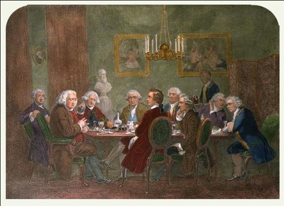Une soirée chez Reynolds en 1781, James Doyle