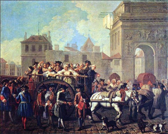 La conduite des filles de joie à la Salpêtrière,Étienne Jeaurat, 1745