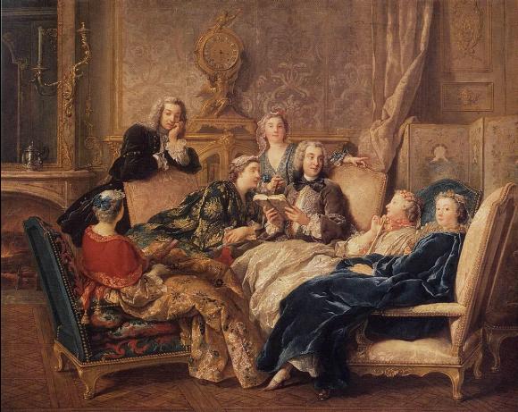 Lecture de Molière, Jean-François de Troy, 1728