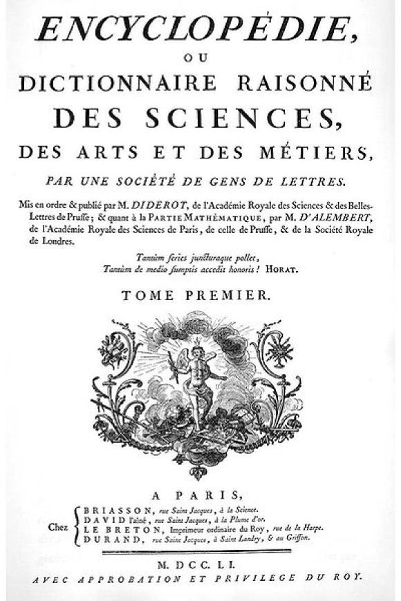L'Encyclopédie, Diderot et d'Alembert, 1751−1772