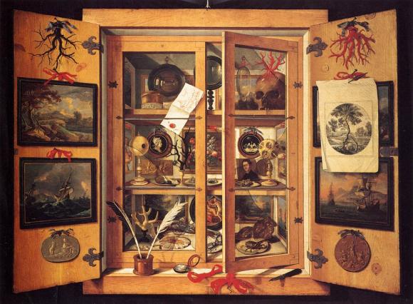 Cabinet de curiosités des années 1690