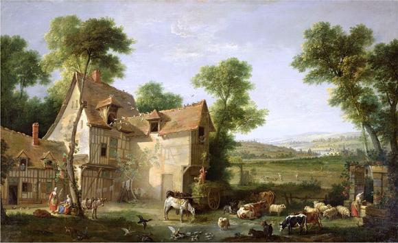 La ferme, Jean-Baptiste Oudry, 1750