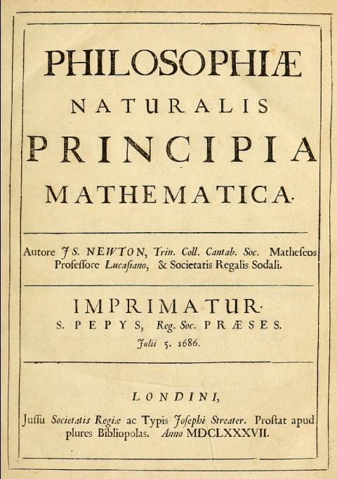 Couverture dePrincipes mathématiques de la philosophie naturelle