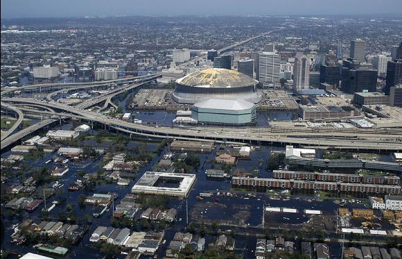 La Nouvelle-Orléans après le passage de l'ouragan Katrina, août 2005