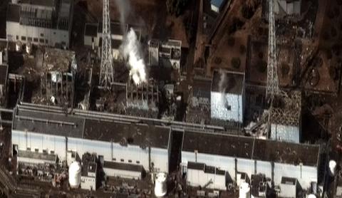 La centrale nucléaire de Fukushima après les explosions, le 16 mars 2011