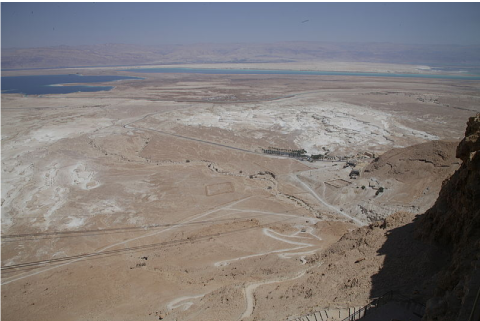 La salinisation : un phénomène très avancé près de Masada en Israël