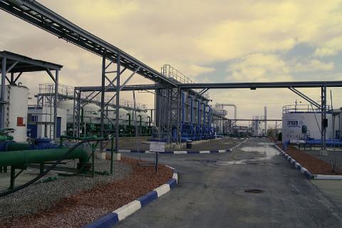 L'usine de désalinisation de Nitzana dans le désert du Sinaï en Israël