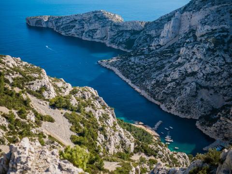 La calanque de Sugiton au sud-est de Marseille
