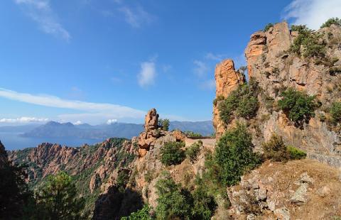 La calanque de Piana et le golfe de Porto en Corse du Sud, classés au patrimoine mondial de l'Unesco depuis 1983