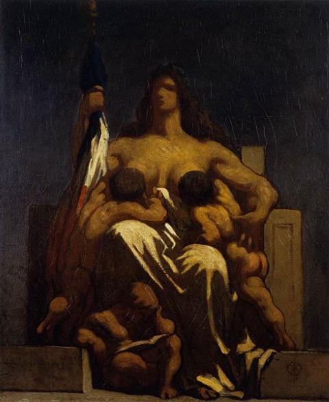 La République selon le caricaturiste Daumier, 1848.