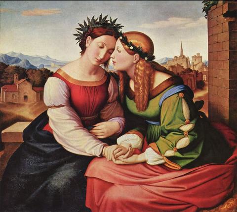 Italia und Germania, Johann Friedrich Overbeck, 1828