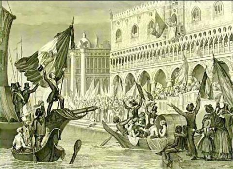 Proclamation de la République à Venise