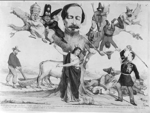 Napoléon III entravant l'Italie en empêchant son unité