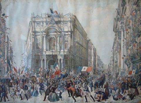 Ingresso di Garibaldi a Napoli i 7 settembre 1860 (Entrée de Garibaldi à Naples le 7 septembre 1860), Franz Wenzel Schwarz