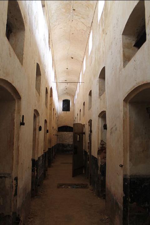 Intérieur du bagne de la Guyane française