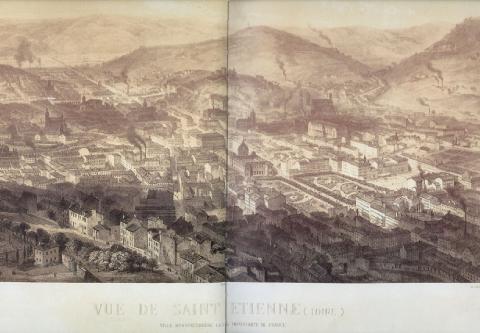Saint-Etienne et ses manufactures en 1860
