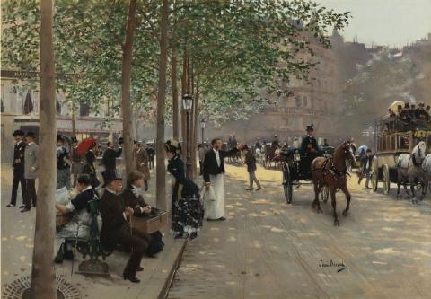 Avenue parisienne, Jean Béraud
