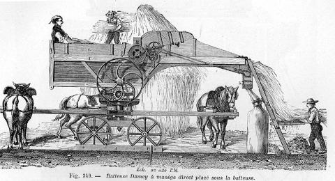 Batteuse mécanique en 1861