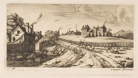 Entrée par le Faubourg Saint-Marceau, Paris, Charles Méryon, 1850