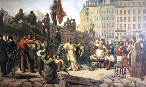 Barricade de Paris en 1848, Friedrich Martersteig