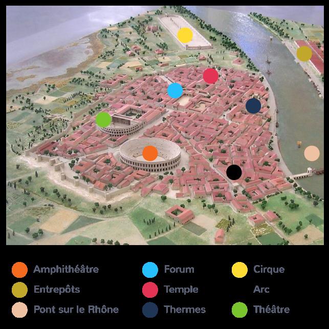 Maquette de la cité d'Arles au Ier siècle après J.-C.