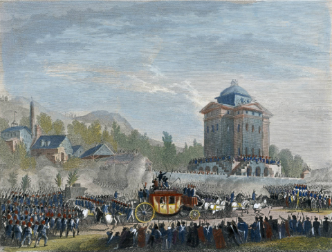 Retour de Varennes. Arrivée de Louis Seize à Paris, le 25 juin 1791, Jean Duplessis-Bertaux, 1791