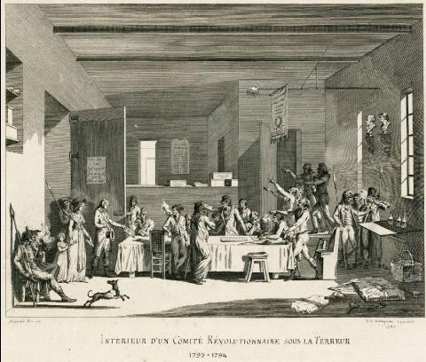 Intérieur d'un comité révolutionnaire sous la Terreur, Malapeau, 1797