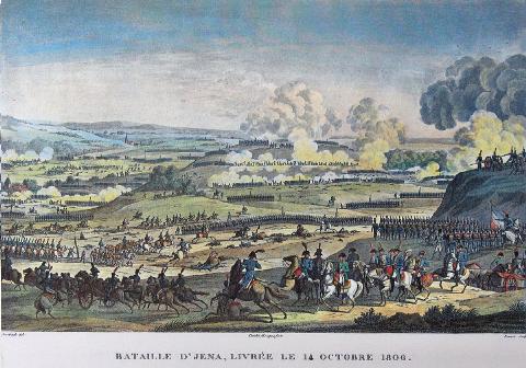 Napoléon Ier sur le champ de bataille d'Iéna en 1806