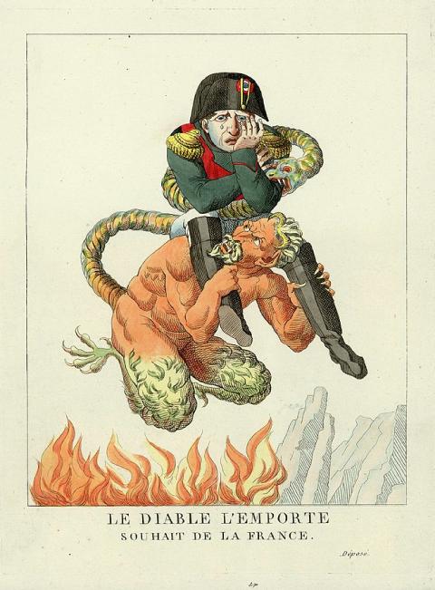Caricature de NapoléonIer intituléeQue le diable l'emporte !