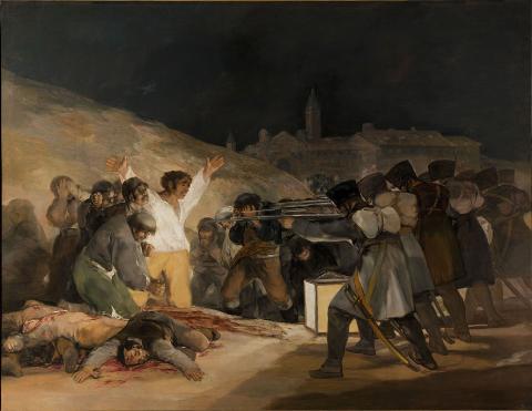 Tres de mayo, peinture de Francisco de Goya, 1814.