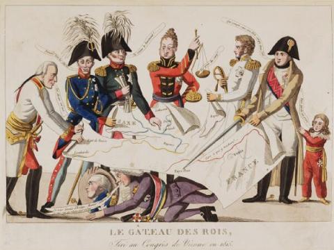 Le gâteau des rois, tiré au congrès de Vienne en 1815