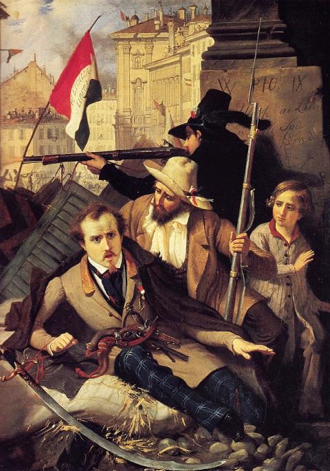 Un épisode des cinq journées de Milan en 1848, Baldassare Verazzi, 1886