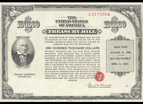 Bon du trésor américain de 1969