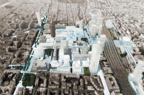 Projet d'aménagement de la Part-Dieu à Lyon, prévu pour 2025